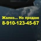 Наклейка Жалко... Но продаю с телефонным номером, на стекло автомобиля