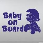 Наклейка Baby on Board Смурфик Растяпа
