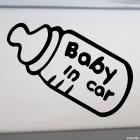 Наклейка Baby in Car ребенок в машине бутылочка