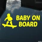 Наклейка Baby on Board ребенок на скейтборде 2