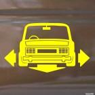 Наклейка ВАЗ 2106 со стрелками влево, вправо и вниз