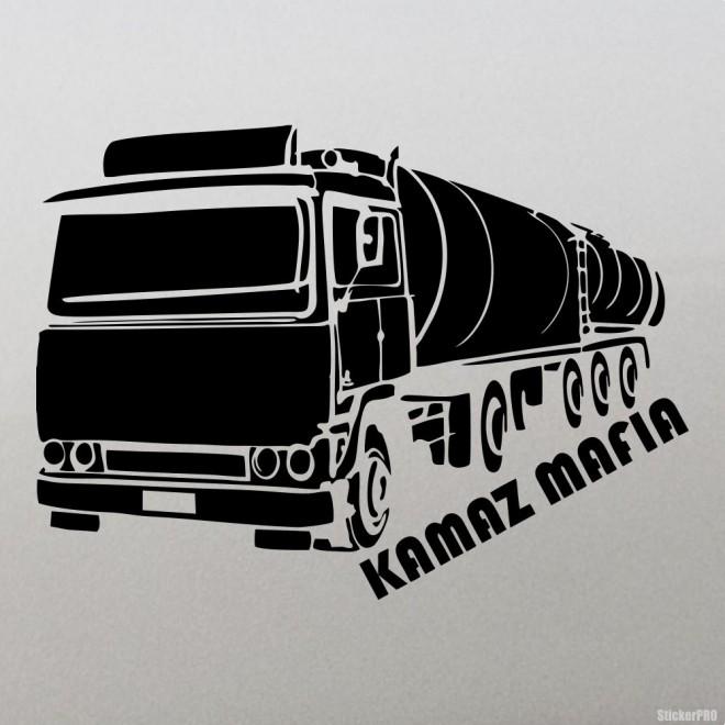 Наклейка KAMAZ Mafia, автомафия Камаз