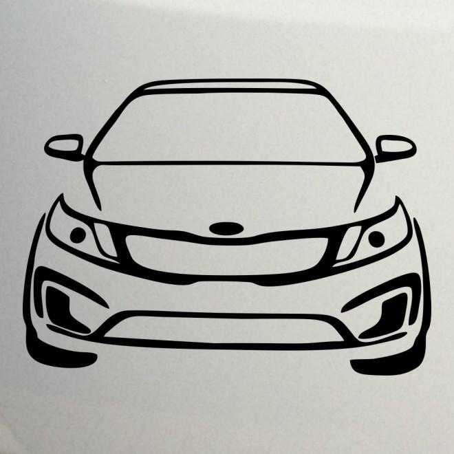 Наклейка KIA Rio автомафия