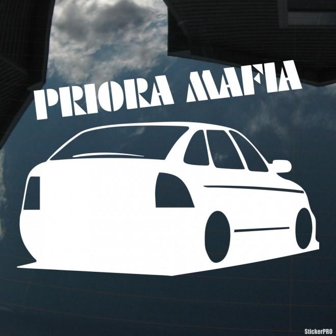Наклейка LADA Priora Mafia