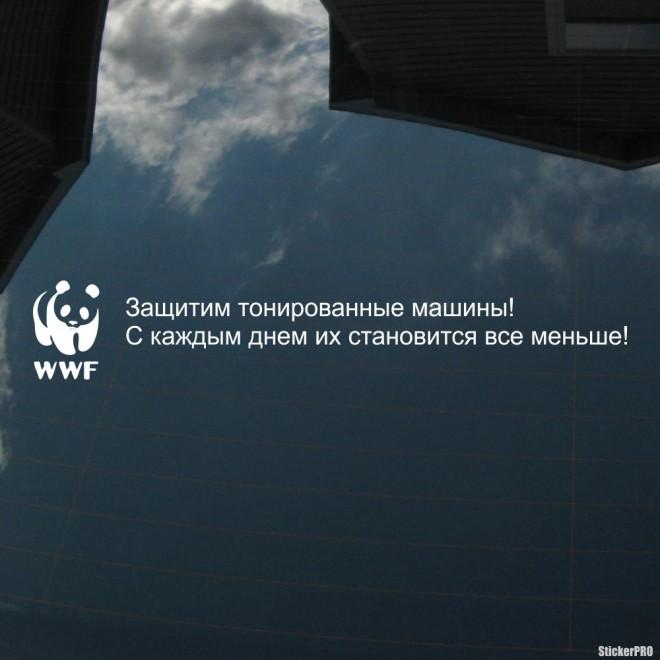 Наклейка Защитим тонированные машины. С каждым днем их становится все меньше!