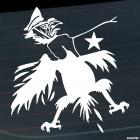 Наклейка Гитлер Капут рука душит птицу на 9 Мая