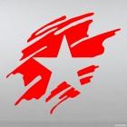 Наклейка звезда краской на День Победы