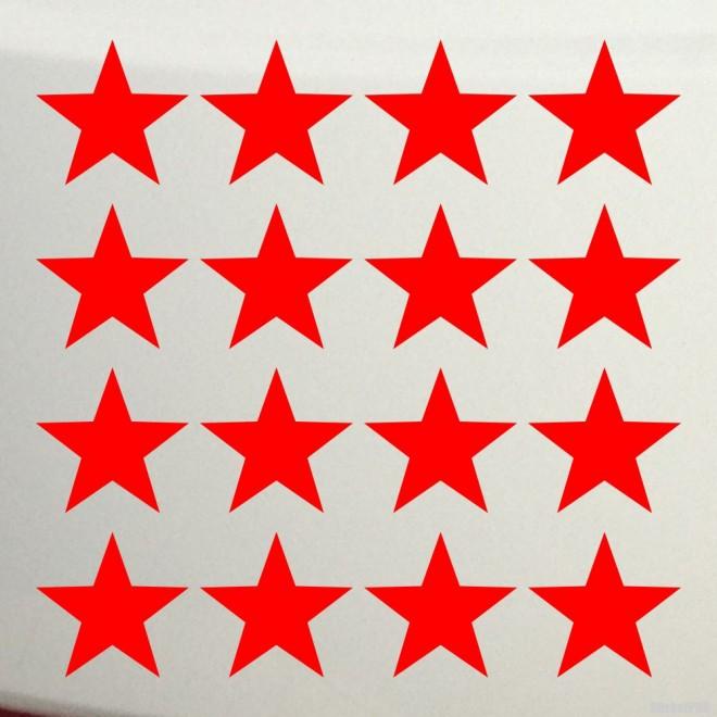 Наклейка 16 звезд 9 Мая