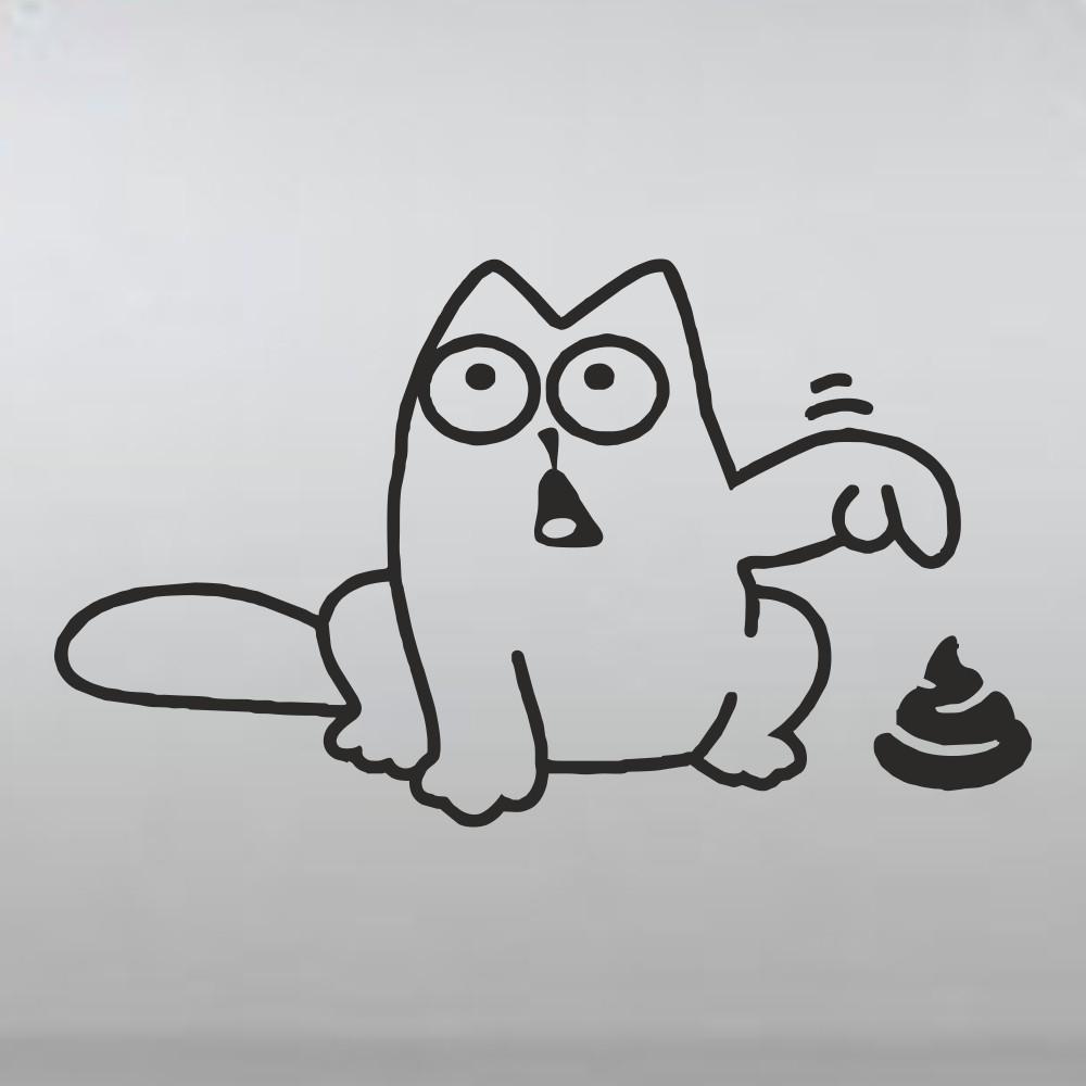 Кот саймон надпись