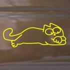 Наклейка Кот Саймона лежит на животе