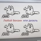 Наклейка Кот Саймона на бензобак