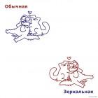Наклейка Кот Саймона обнимает кошку