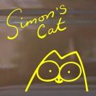 Наклейка Кот Саймона с подписью 3