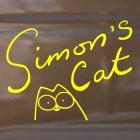 Наклейка Кот Саймона с подписью