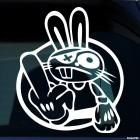 Наклейка кролик пират JDM
