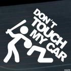 Наклейка Don't touch my car JDM (Не тронь мою тачку)