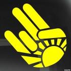 Наклейка жест Шокер восходящее солнце JDM