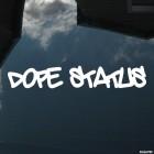 Наклейка dope status JDM (допинг статус)