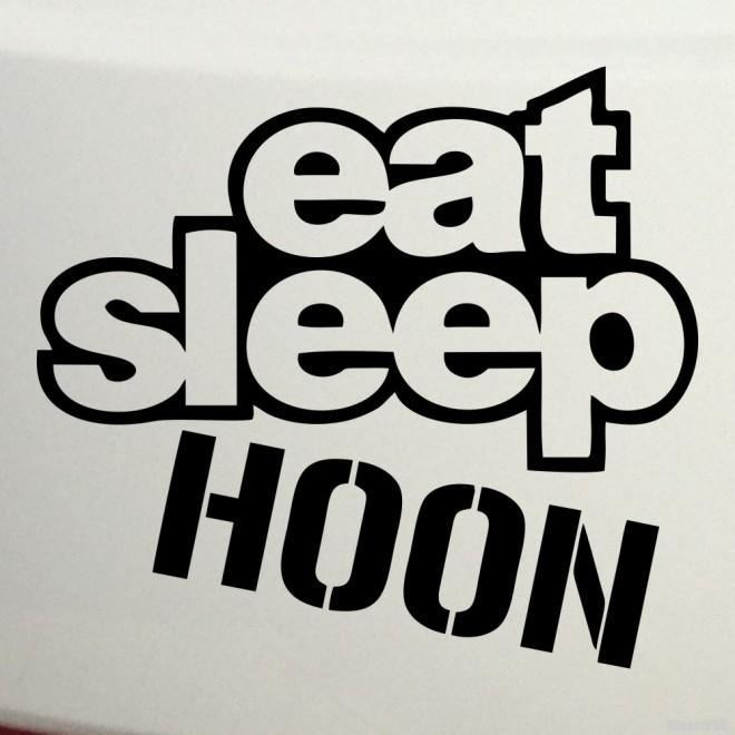 Наклейка eat sleep hoon JDM