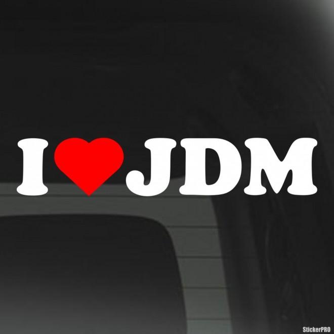 Наклейка Я люблю JDM