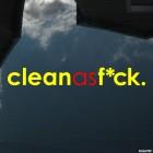 Наклейка clean as f*ck JDM