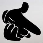 Наклейка жест пистолет из рук