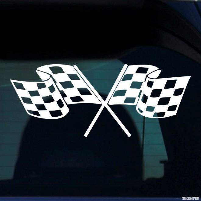 Наклейка спортивные флаги
