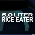 Наклейка 5.0 liter rice eater JDM (пятилитровый рисоед)