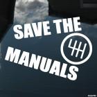 Наклейка save the manuals JDM (спасите механику)