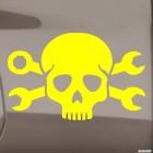 Наклейка череп механика