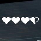 Наклейка сердечки жизни Зельды JDM