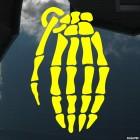Наклейка армейская ручная граната скелет JDM