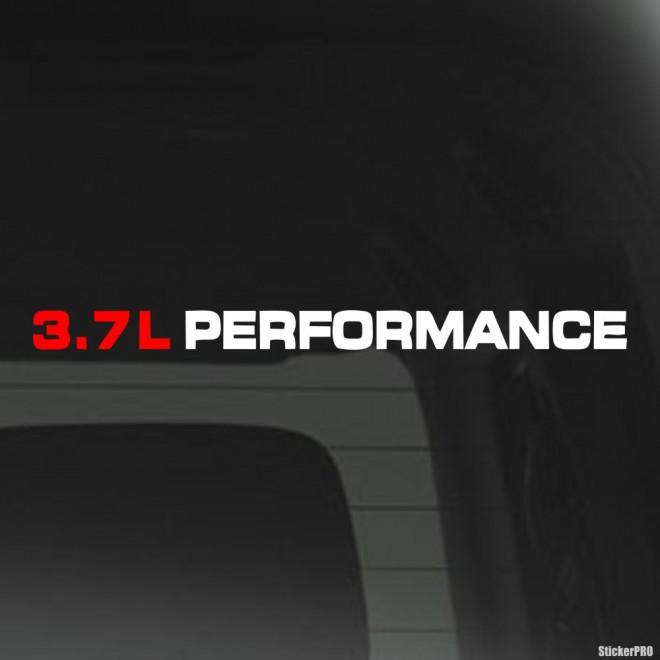 Наклейка 3.7L Performance JDM