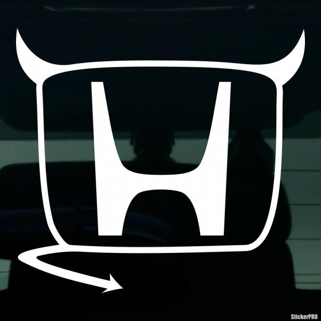 Наклейка Honda Devil JDM