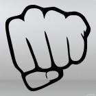 Наклейка жест кулак