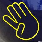 Наклейка жест отведенный указательный палец JDM