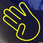Наклейка жест отведенный мизинец JDM