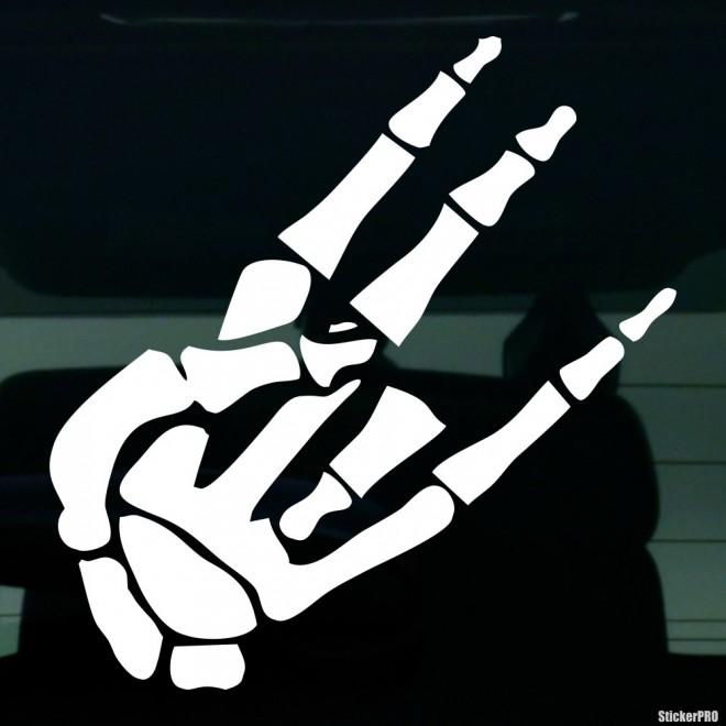 Наклейка жест Шокер скелета JDM