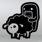Наклейка Domo Kun Love Sheep JDM