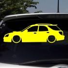 Наклейка JDM Subaru Impreza лоурайд