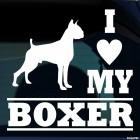 Наклейка I Love my Boxer