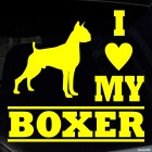 Наклейка I Love my Boxer