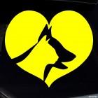 Наклейка собаки и кошки любовь