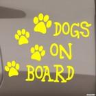Наклейка dogs on board 4 собачьих следа
