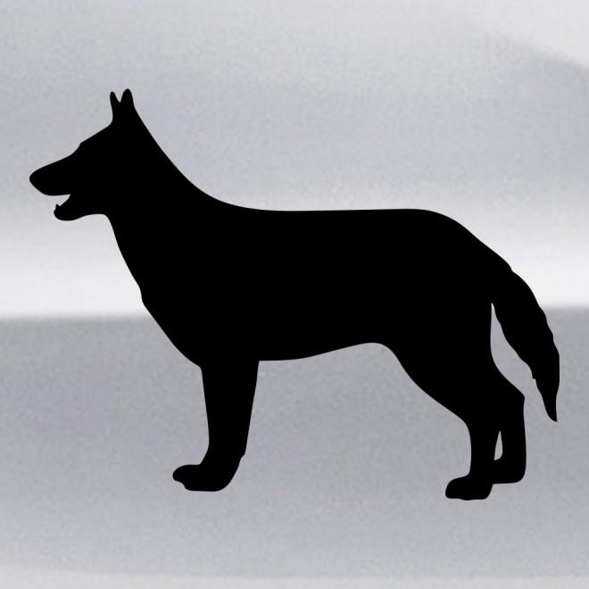 Наклейка Немецкая овчарка собака