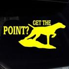 Наклейка Get the point? Охотничья собака