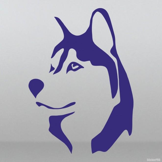 Наклейка Хаски голова собаки 2