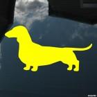 Наклейка Такса собака