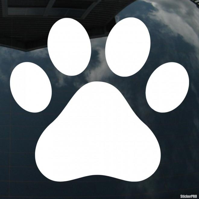 Наклейка собачий след