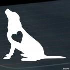 Наклейка собака с сердцем